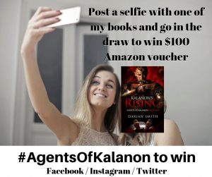 Post a selfie with one of my books and go in the draw to win $100 Amazon voucher