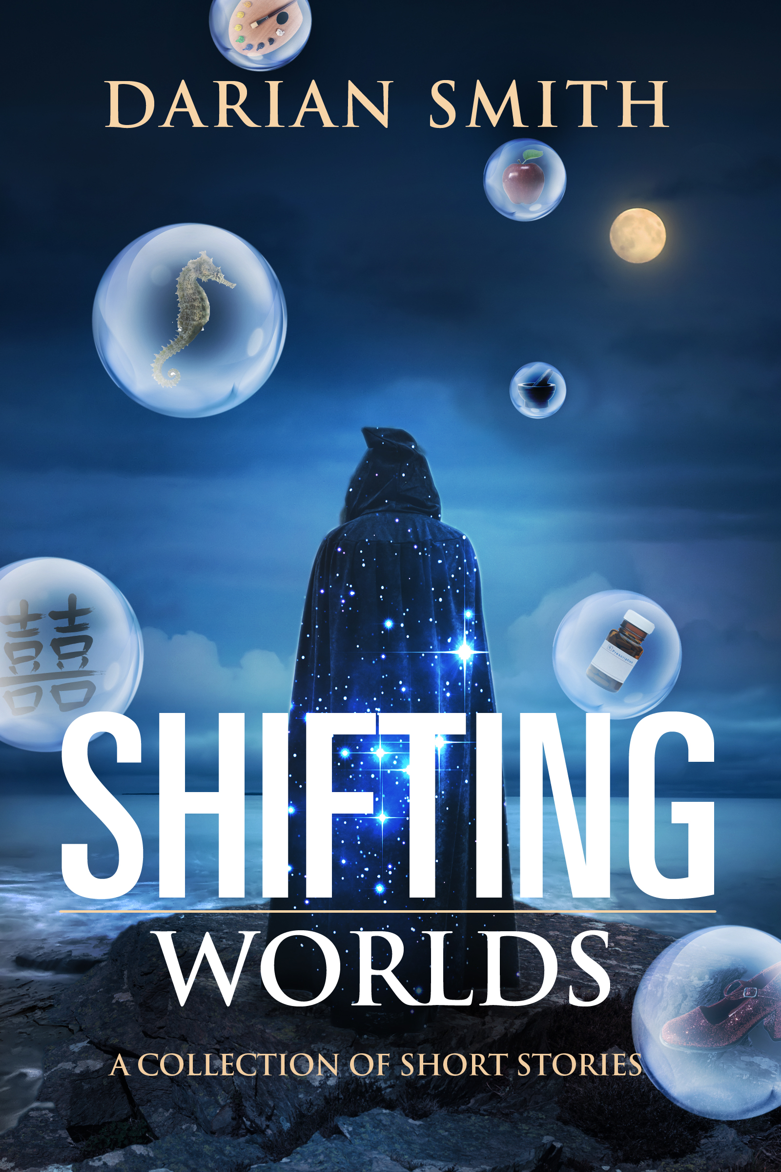 """Shifting Worlds"" is a collection of 16 stories spanning the worlds of fantasy, sci-fi, and literary fiction. Includes prize winning and brand new stories. Foreward by Jennifer Fallon, who says it ""never fails to entertain and surprise."""